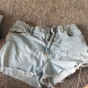 Light Denim Short Shorts